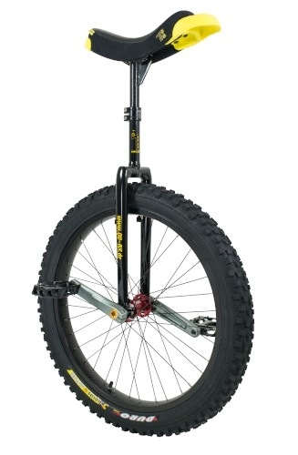 "Qu-Ax 24"" Muni Unicycle Q-Axle - Off-Road Freestyle Model - Black"