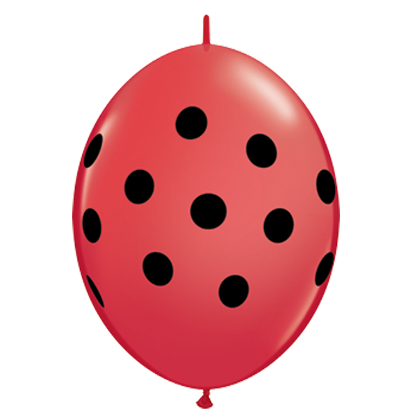 "Qualatex 6"" Q-Link Polka Dot Balloons"