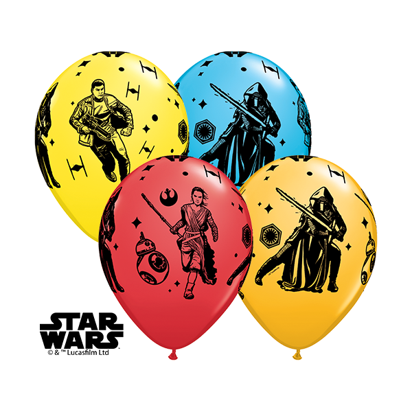 "Qualatex | 25 Classic 11"" Star Wars Episode VII Balloons"