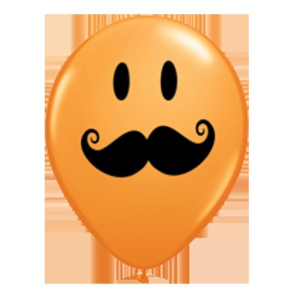 """Qualatex 5"""" Moustache  Balloons - Various Colours"""