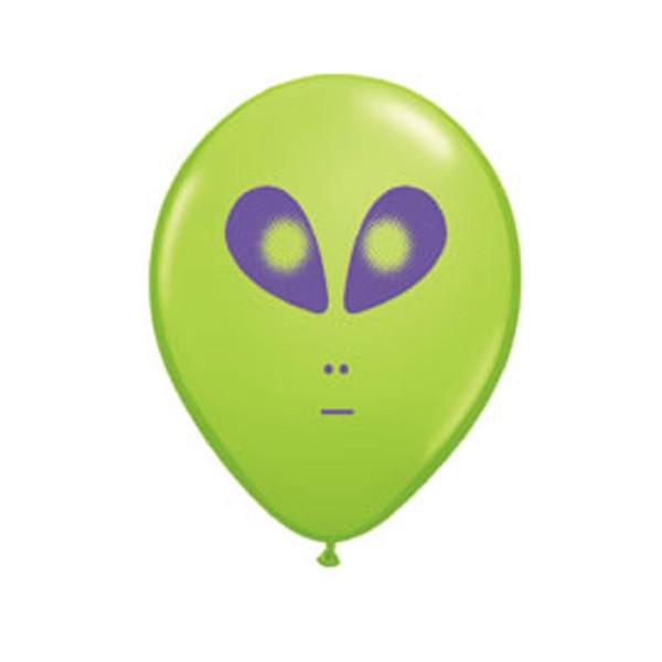 "Qualatex 5"" Alien Face Balloons - Various Colours"