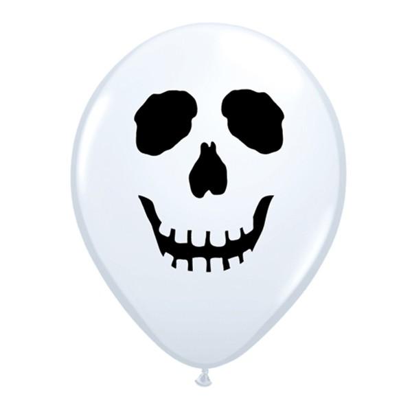 "Qualatex 5"" Scary Skull Face Ballons"