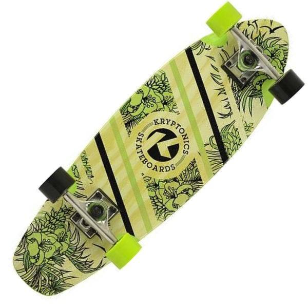 "Kryptonics 27"" Aloha Floral Cruiser Skateboard"