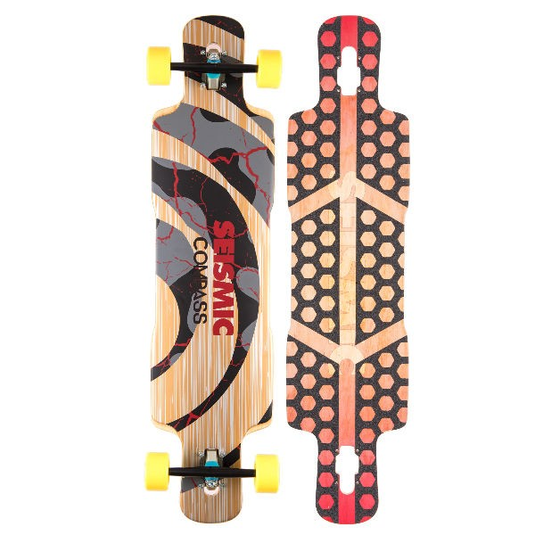 "Seismic Compass 39.5"" Complete Longboard"