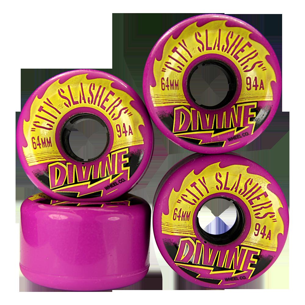Divine Urethane City Slashers Wheels 64mm 94a