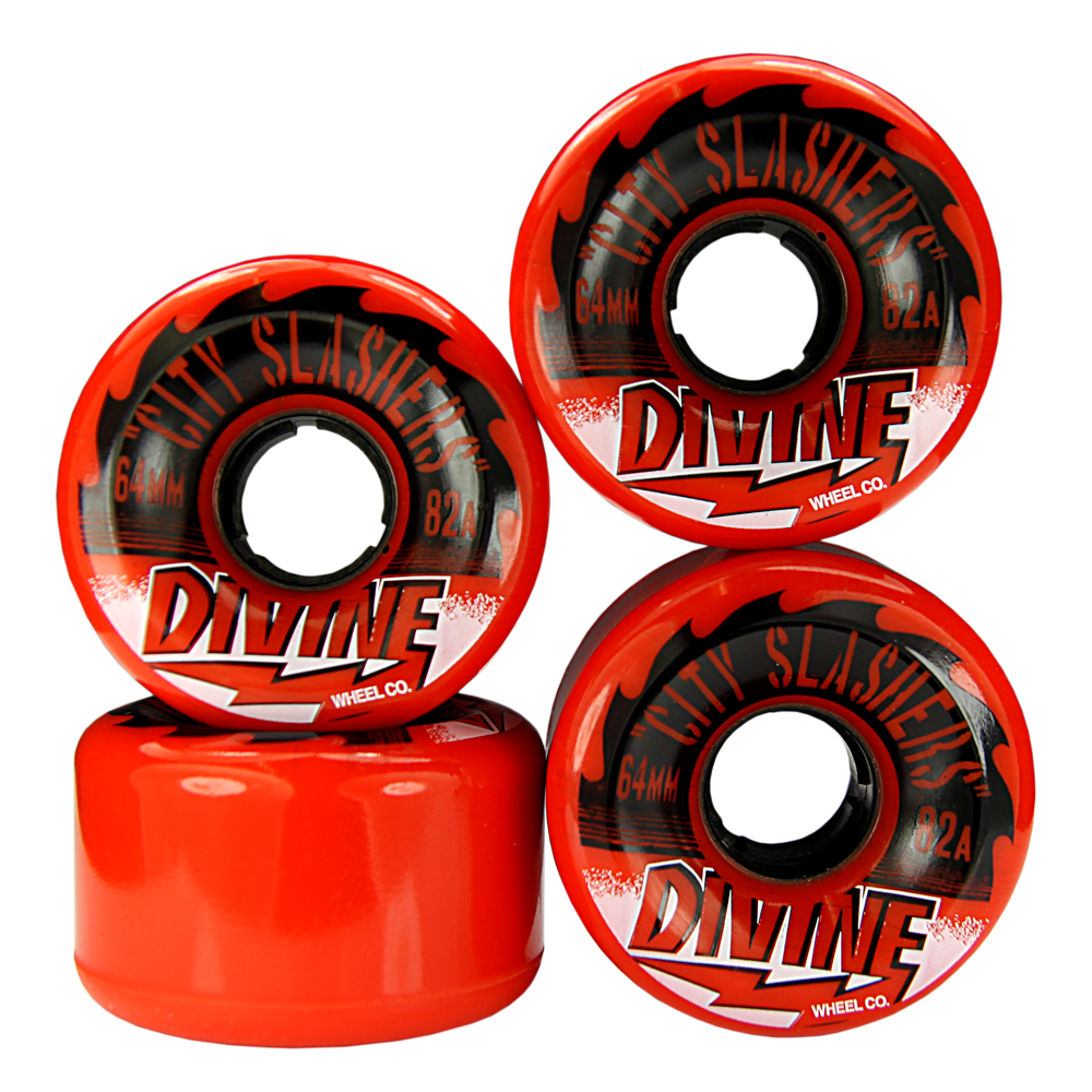 Divine Urethane City Slashers Wheels 64mm 82a