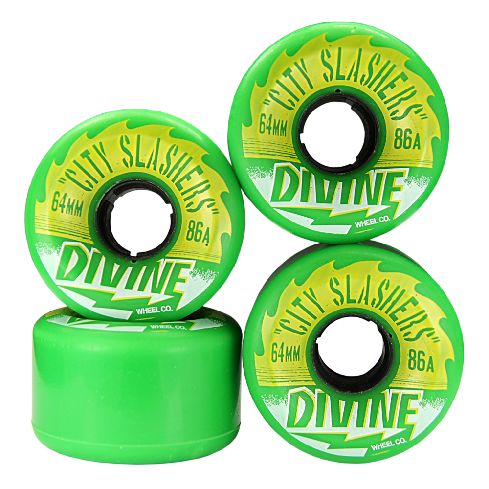 Divine Urethane City Slashers Wheels 64mm 86a