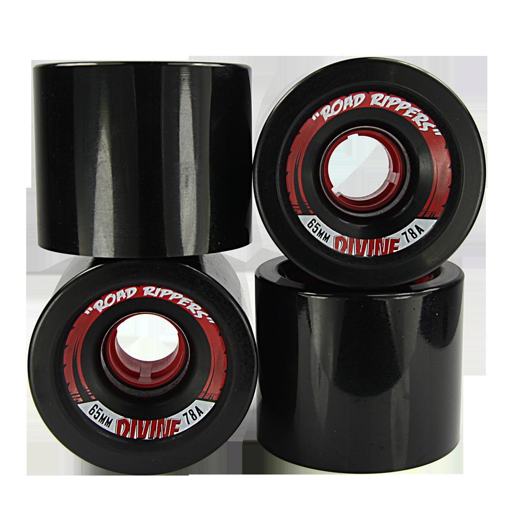 Divine   Divine Urethane Road Rippers Wheels 65mm 78a Black