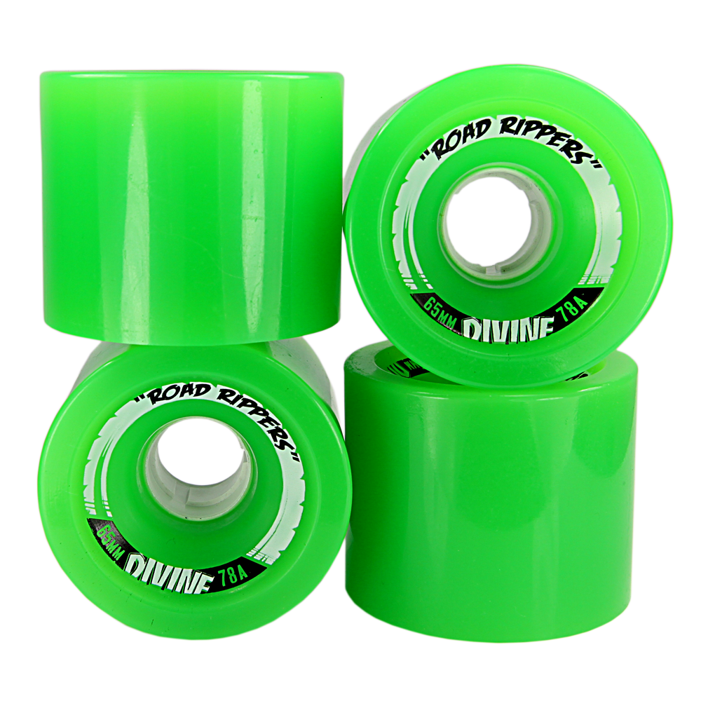 Divine | Divine Urethane Road Rippers Wheels 65mm 78a Green