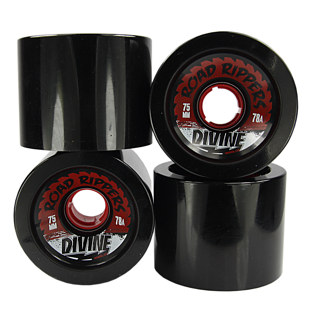 Divine | Divine Urethane Road Rippers Wheels 75mm 78a Black