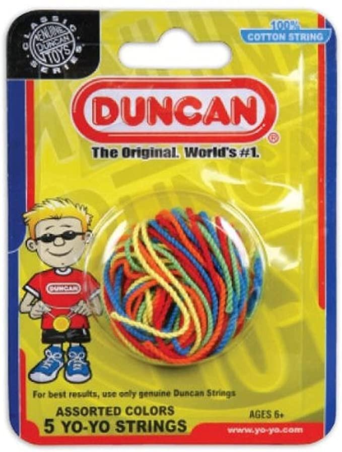 Duncan Yo-Yo String (5 pack)-Multi-color - 100% Cotton