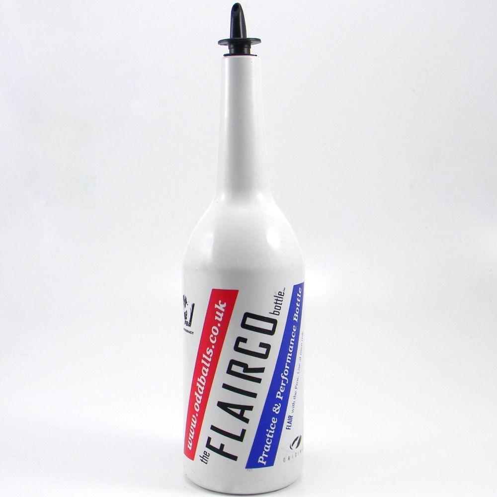 Flairco Malibu Flair Bottle - 1 Litre - White with Logo