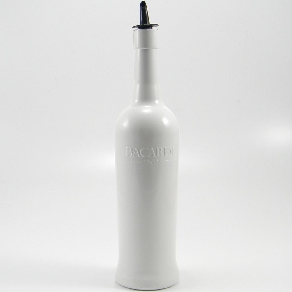 Flairco Bacardi Flair Bottle - White - With Pour Spout