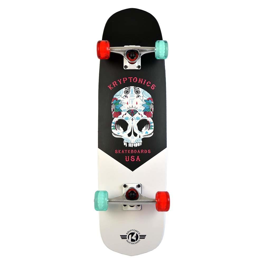 "Kryptonics 31"" Hybrid Series 'Inked Skull' Skateboard"