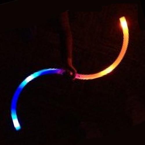 Juggle-Light Fibre Optic S Staff - 'Multi-Light'