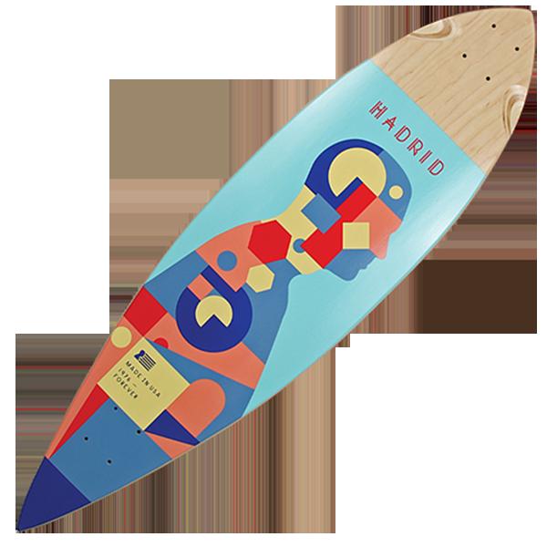 Madrid Pintail 'Piechart' Longboard Deck
