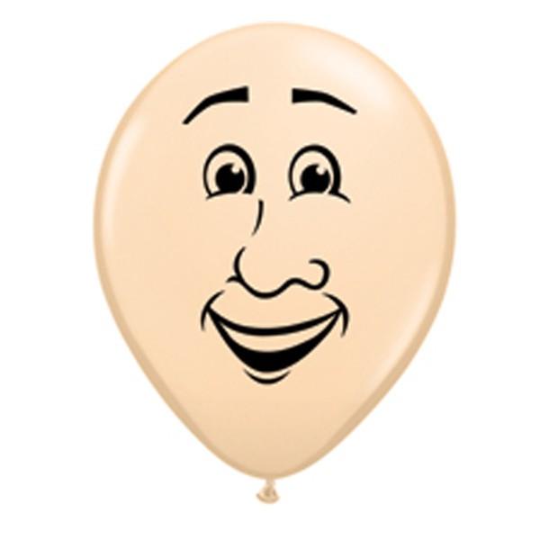 "Qualatex 5"" Blush Man Face Balloons"