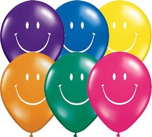 "Qualatex 5"" Rainbow Smile Face Balloons"
