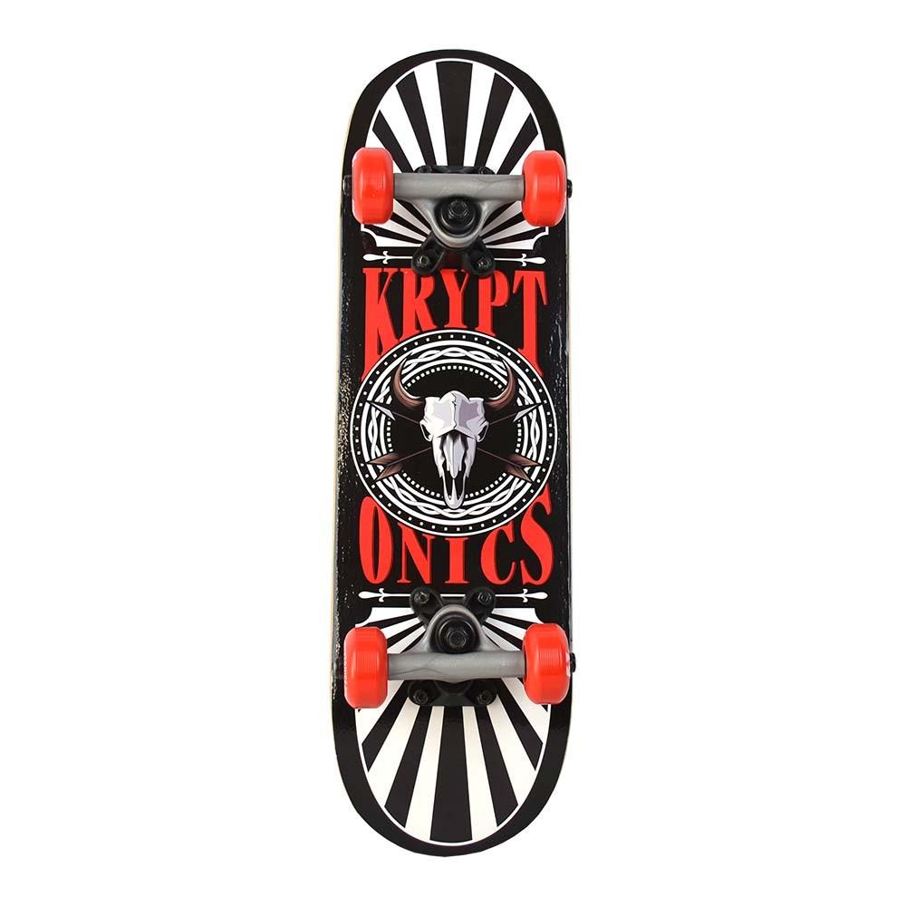 """Kryptonics 22"""" Locker Board 'Skull Rays' Skateboard"""