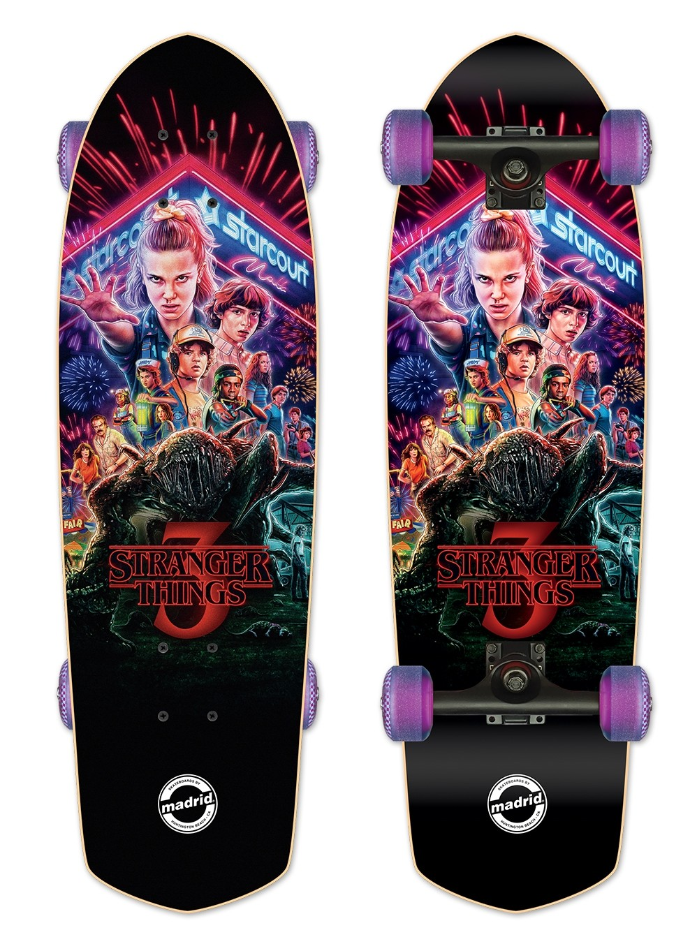 Madrid x Stranger Things Poster Complete Skateboard - PRE-ORDER