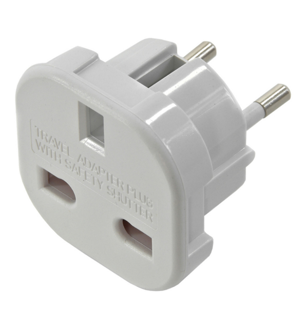 UK to EU Travel Adapter