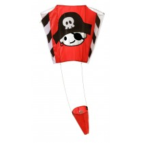 Wolkenstürmer Children's Pirate Jack Pocket Kite - 65cm x 45cm - Single Line - Includes Kite String and Handle