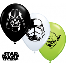 "Qualatex 5"" Star Wars Faces Balloons - Assorted Colours"
