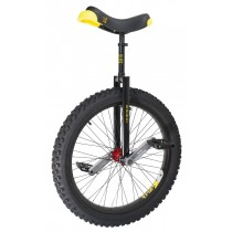 "Qu-Ax 24"" Muni Starter Trials Unicycle - Off-Road Freestyle Model - Black"
