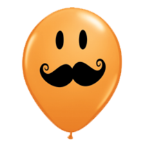"Qualatex 5"" Moustache  Balloons - Various Colours"