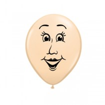 "Qualatex 5"" Blush Woman Face Balloons"