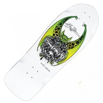 Madrid 'Beau Brown' Longboard Deck - White
