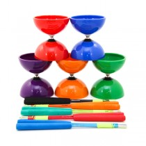 Juggle Dream Big Top Bearing Diabolo and SuperGlass Hand Sticks