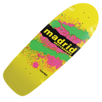 Madrid 'Explosion' Longboard Deck - Yellow