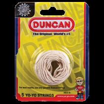 Duncan Yo-Yo String (5 pack)- White - 100% Cotton