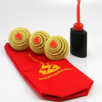 3 x Fyrefli Fire Juggling Balls & Carry Bag - 68mm