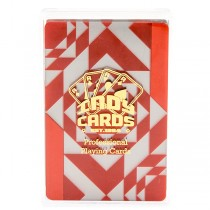 Indy Plastic Playing Cards - Modern Red