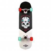 "Kryptonics 31"" Hybrid Series 'Inked Skull' Skateboard"