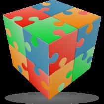 V-Cube JIGSAW - 2 x 2 Flat Cube