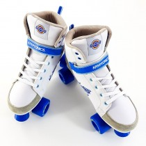 Kryptonics Roller Quad Skates - Blitz - White / Blue - Various Sizes Available