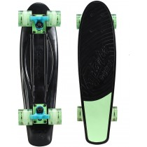 "Kryptonics Original Torpedo 22.5"" Skateboard, Black/Green"