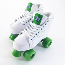 Kryptonics Roller Quad Skates - DownTown - White / Green - Various Sizes Available