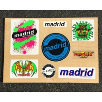 Madrid Skateboards OG Sticker Sheet - Set of 8