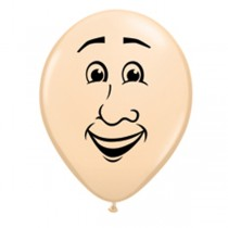 "Qualatex 5"" Blush Man Face Balloons"