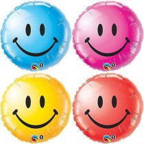Qualatex Smiley Face Foil Balloons (various)