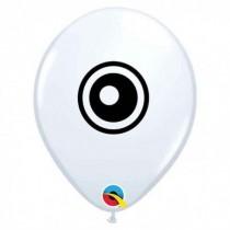 """Qualatex 5"""" Round White Eyeball Balloon"""