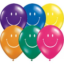 "Qualatex 5"" Rainbow Smile Face Balloons"