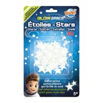 BUKI Glow In the Dark 3D Stars
