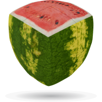 V-Cube WATERMELON - 2 x 2 Pillow Cube