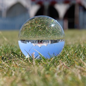 75mm Juggle Dream Crystal Clear Acrylic Contact Juggling Ball